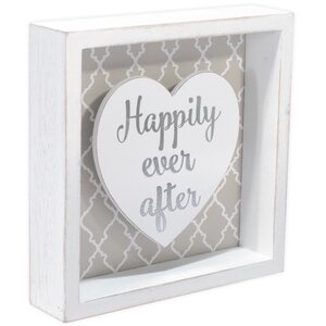 'Happily Ever After' Framed Textual Art on Glass by Ophelia & Co.
