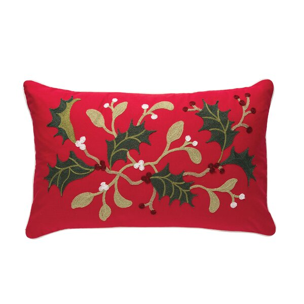 Maultsby Holly Branch Lumbar Pillow by The Holiday Aisle