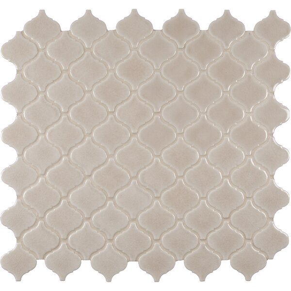 Fog Arabesque Ceramic Mosaic Tile in Gray by MSI