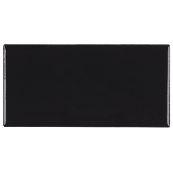 Guilford 3 x 6 Ceramic Subway Tile in Black by Itona Tile