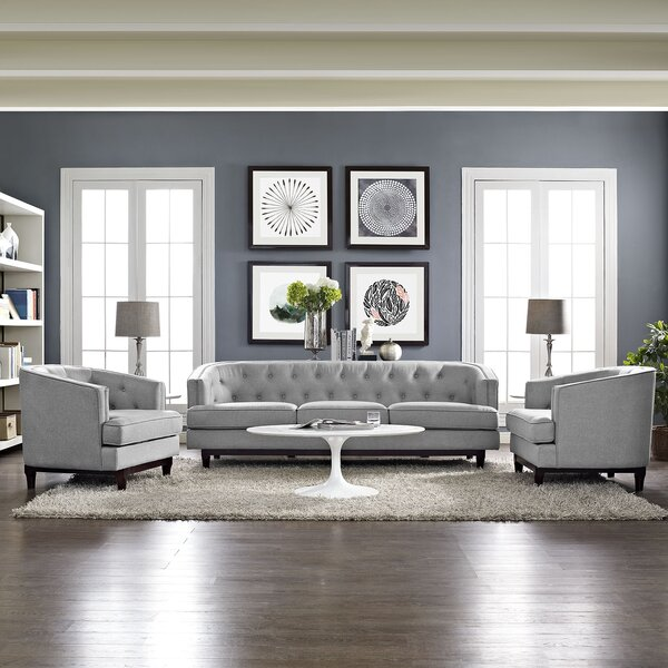Thomaston 3 Piece Living Room Set by Ivy Bronx