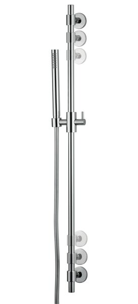 Novara Slider Rail Shower Kit with Hand Set by Andolini Home & Design