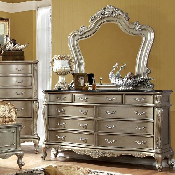 Drolet 9 Drawer Double Dresser with Mirror by Astoria Grand