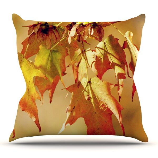 Autumn Leaves by Angie Turner Outdoor Throw Pillow by East Urban Home