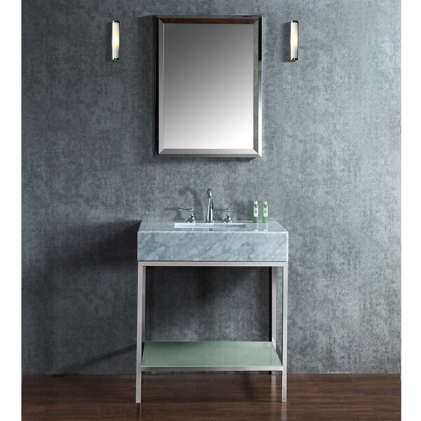 Brightwater 30 Single-Sink Bathroom Vanity Set with Mirror by Ariel Bath
