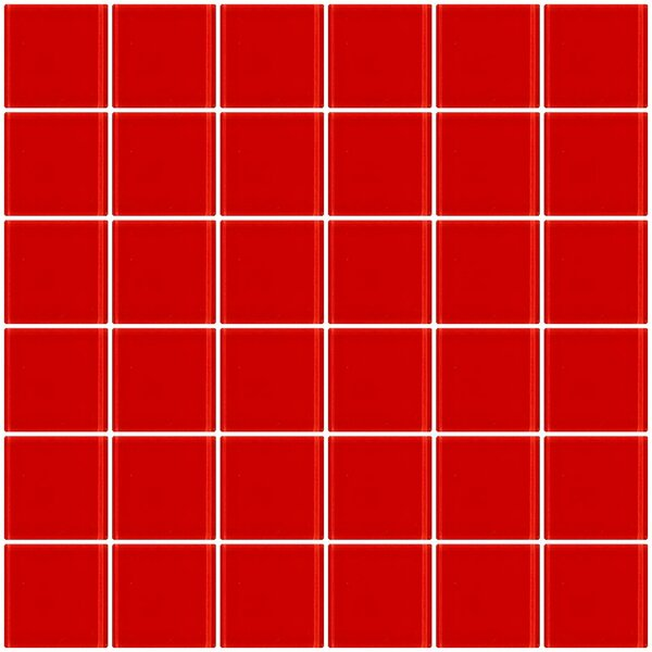 Bijou 22 2 x 2 Glass Mosaic Tile in Deep Tomato Red by Susan Jablon
