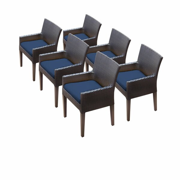 Tegan Patio Dining Chair with Cushion (Set of 6) by Sol 72 Outdoor