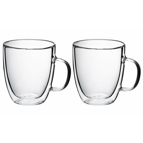 Ebling 15 oz. Glass Every Day Glasses (Set of 2) by Ebern Designs