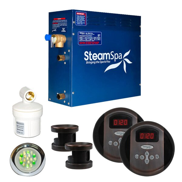SteamSpa Royal 12 KW QuickStart Steam Bath Generator Package in Oil Rubbed Bronze by Steam Spa