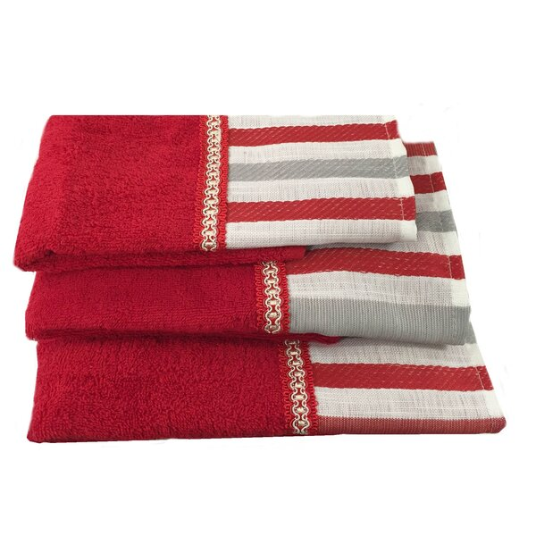 Asherton Decorative 3 Piece Towel Set by Winston Porter