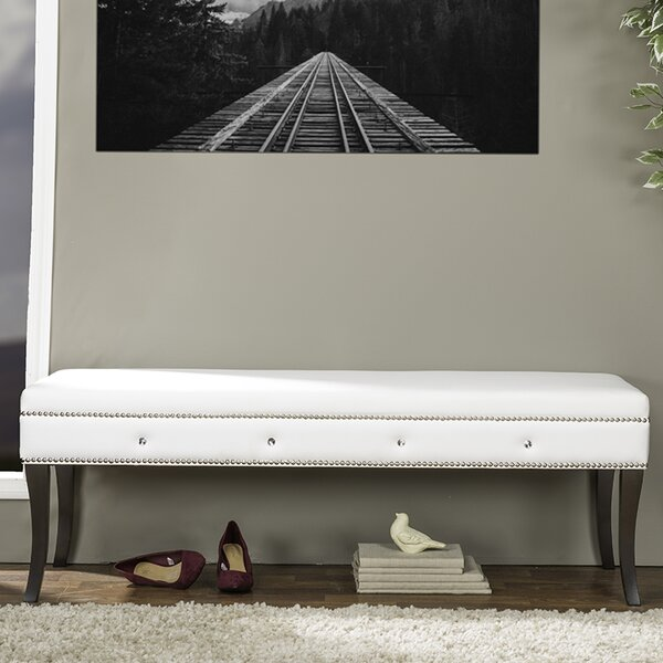 Beglin Wood Bench by House of Hampton