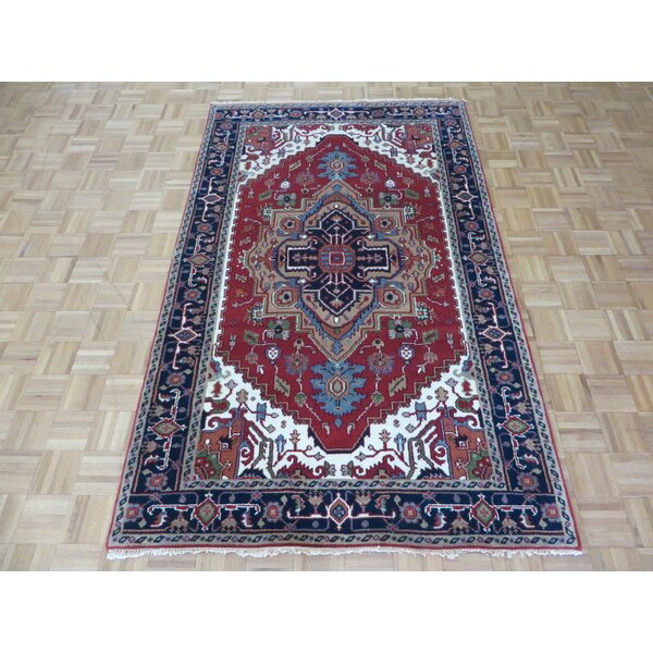One-of-a-Kind Pellegrino Serapi Heriz Hand-Knotted Rust Red Area Rug by Bloomsbury Market