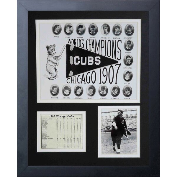 1907 Chicago Cubs Team Framed Memorabilia by Legends Never Die