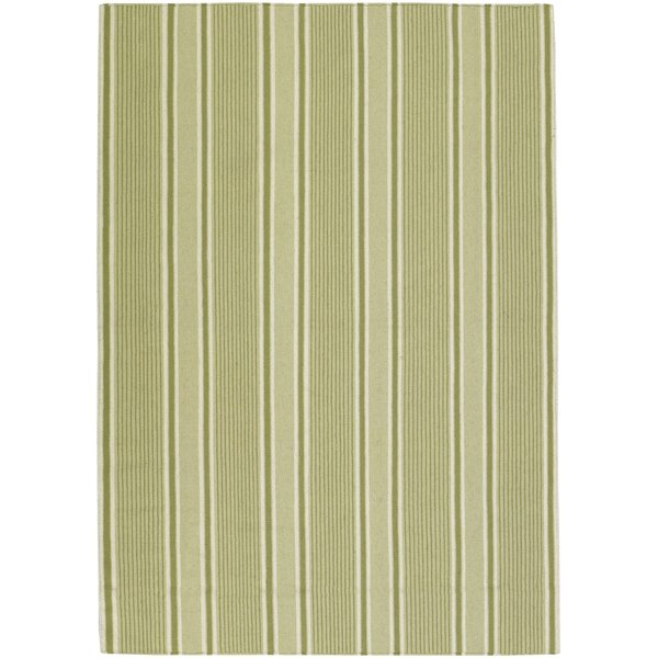 Farmhouse Stripes Green Area Rug by Country Living™ by Surya