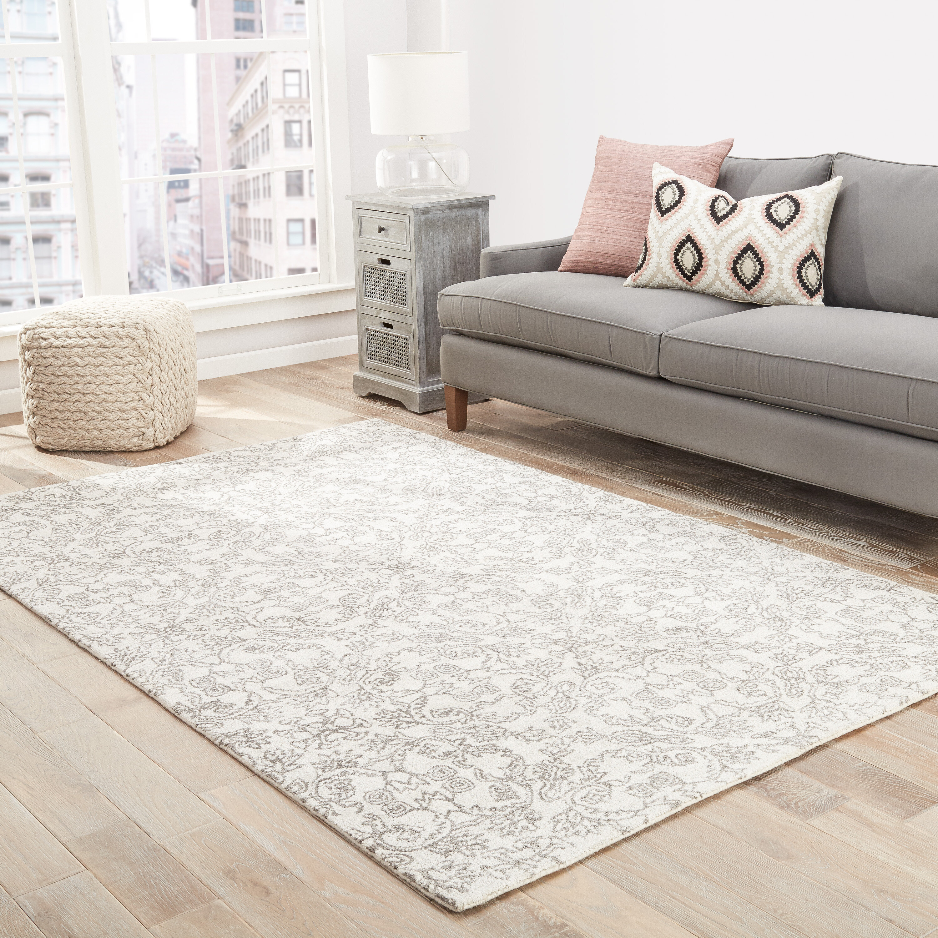 Ophelia & Co. Dylan Hand-Tufted Ivory/Taupe Area Rug | Wayfair