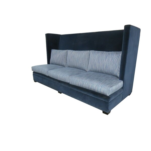 High Back Winged Banquette Upholstered Bench by TLS by Design Custom Furniture