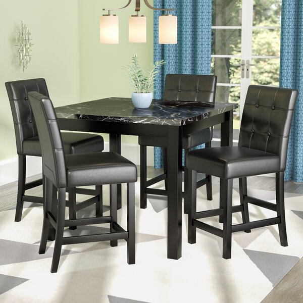 Nathaniel 5 Piece Counter Height Dining Set by Latitude Run