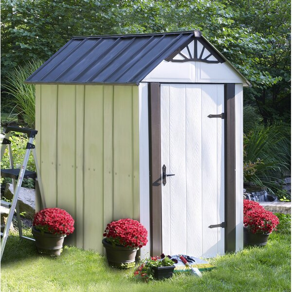Designer Series Metro 4 ft. 6 in. W x 6 ft. 5 in. D Metal Vertical Tool Shed by Arrow