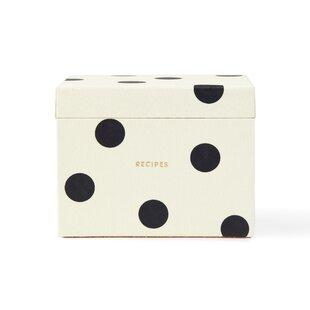 Coupon Recipe Box, Deco Dot Bykate spade new york