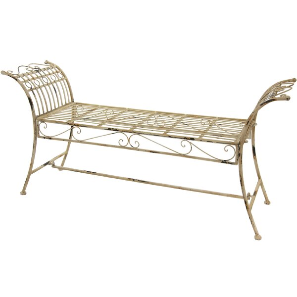 Rustic Iron Garden Bench by Oriental Furniture