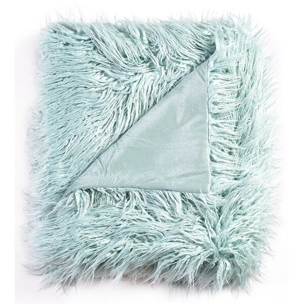 Aurellia Mongolian Soft Shaggy Faux Fur Throw by House of Hampton