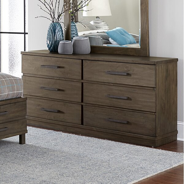 Kirkby 6 Drawer Double Dresser by Three Posts