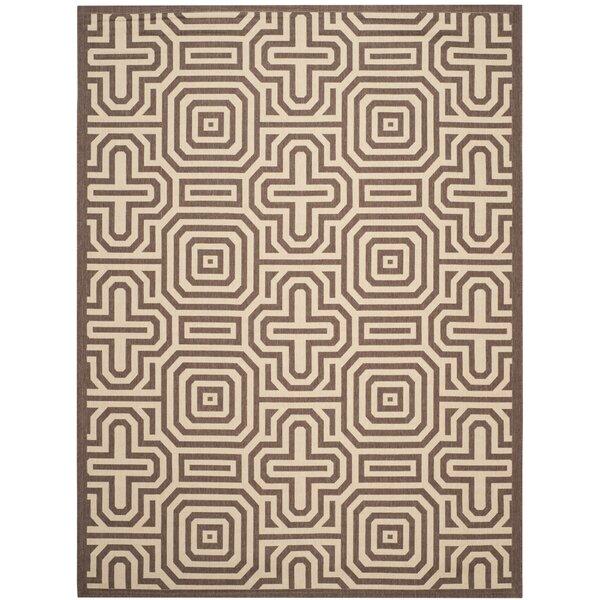 Sherree Natural/Brown Indoor/Outdoor Area Rug by Wrought Studio