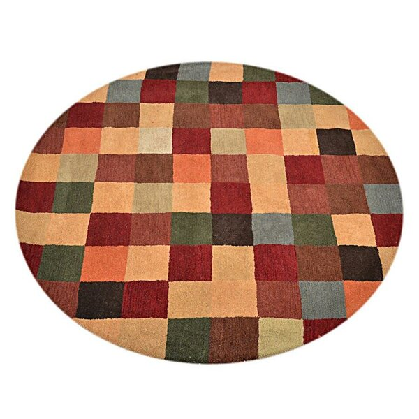 Rocky Hand-Tufted Wool Red/Beige/Green Area Rug by Red Barrel Studio