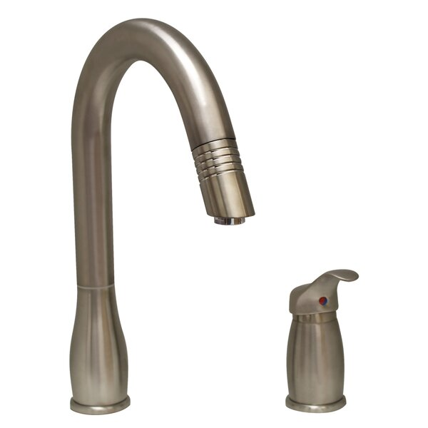 Metrohaus Pull Down Single Handle Kitchen Faucet by Whitehaus Collection