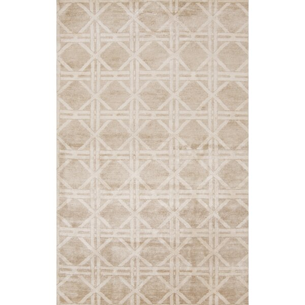 Creagh Hand-Knotted Beige Area Rug by Corrigan Studio