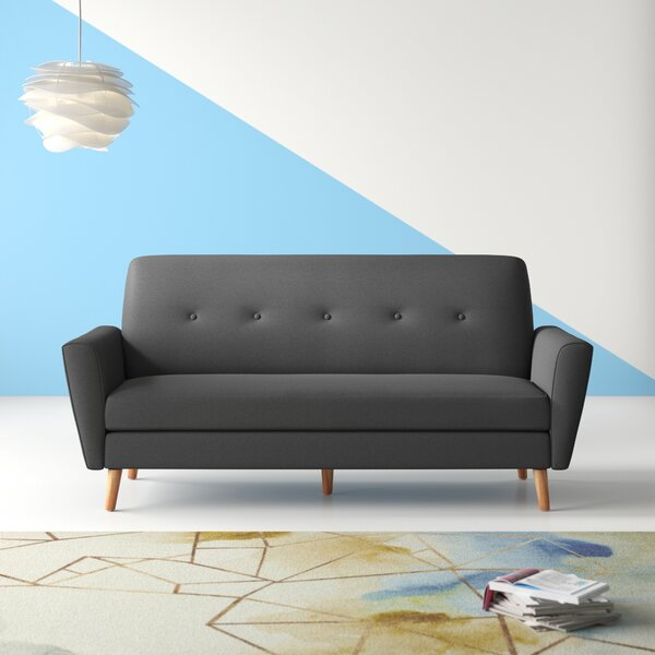 Valuable Quality Altus Mid Century Fabric Couch Sofa by Hashtag Home by Hashtag Home