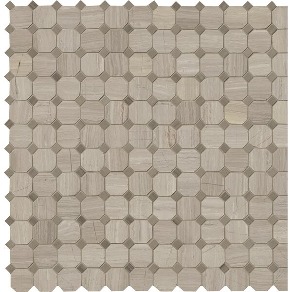 Honed 2 x 2 Marble Mosaic Tile in Gray by MSI