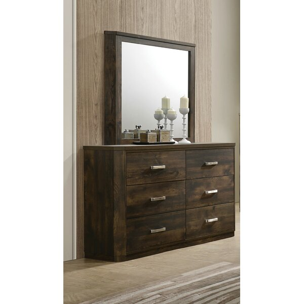 Appling 6 Drawer Double Dresser with Mirror by Brayden Studio