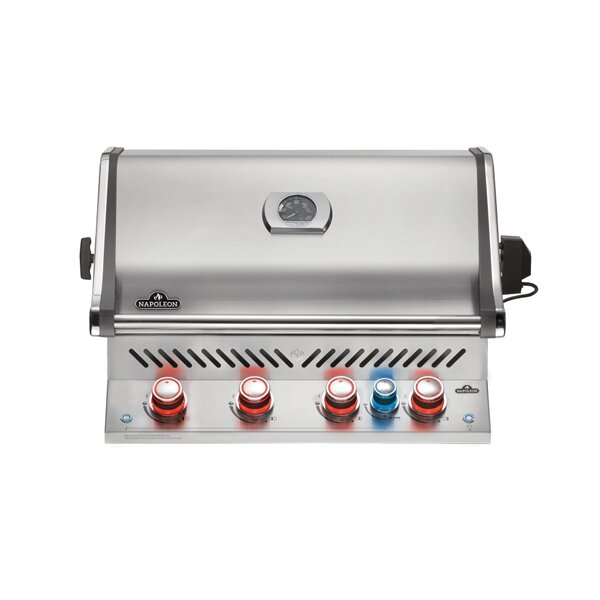 Pro 500 Head 4-Burner Built-In Gas Grill Head with Infrared Rear by Napoleon