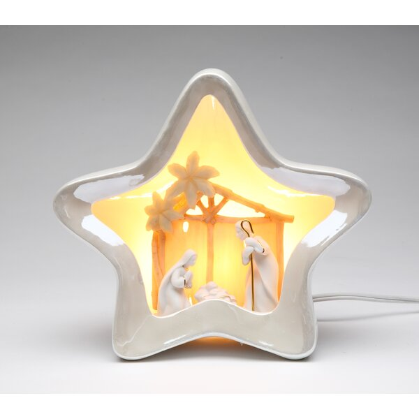 Star Shape Nativity Night Light by Cosmos Gifts