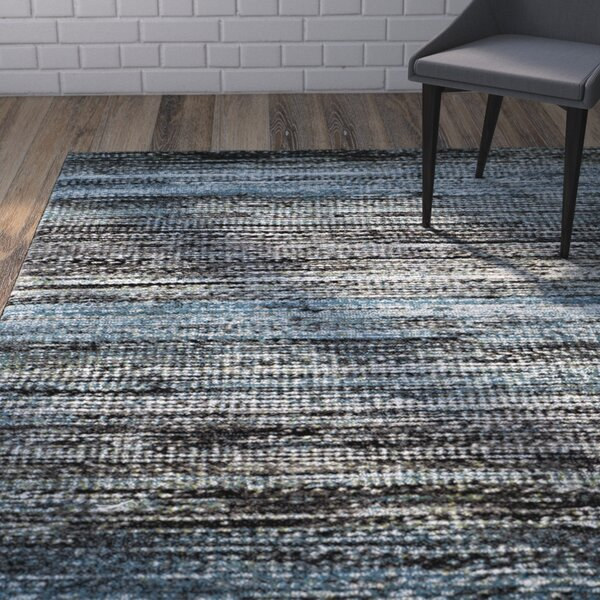 Sevastopol Charcoal/Blue Area Rug by Wrought Studio