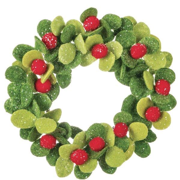 8 Mistletoe Wreath (Set of 2) by The Holiday Aisle