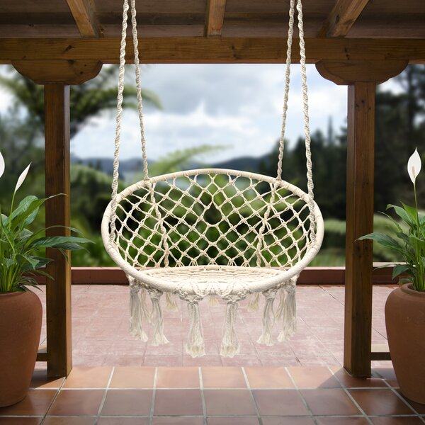 Cottle Hanging Rope Swing Chair by Bungalow Rose