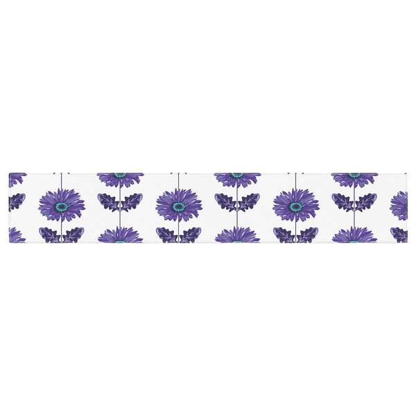 Laura Escalante Gerbera Flower Table Runner by East Urban Home