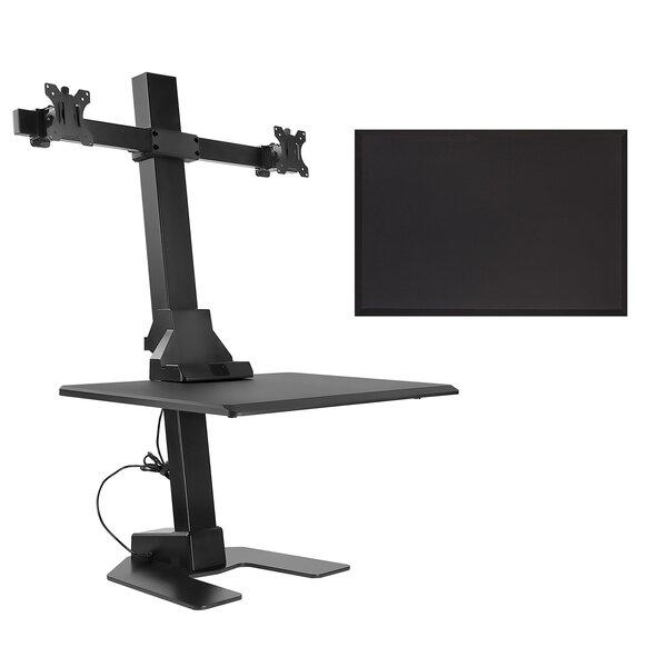 Bryan Height Adjustable 2 Piece Standing Desk Converter Set
