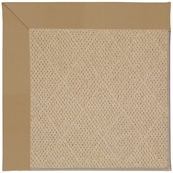 Lisle Machine Tufted Light Gold Indoor/Outdoor Area Rug by Longshore Tides
