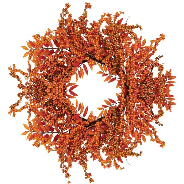 Fall 18 Berry Fern Wreath by Worth Imports