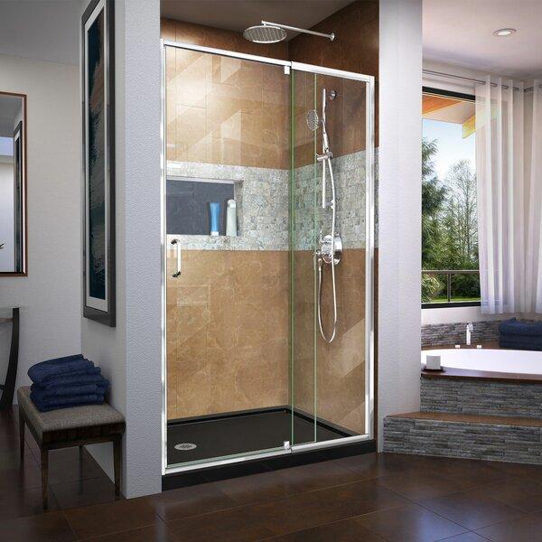 Flex 44-48 in. W x 72 in. H Semi-Frameless Pivot Shower Door by DreamLine