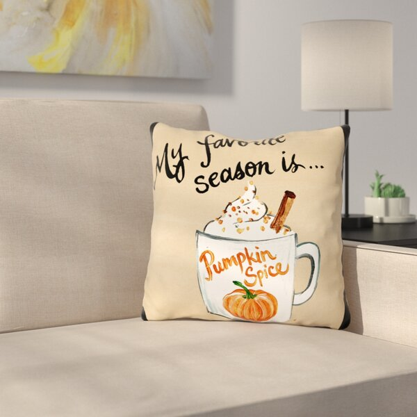 Stalter Pumpkin Spice Throw Pillow by Latitude Run