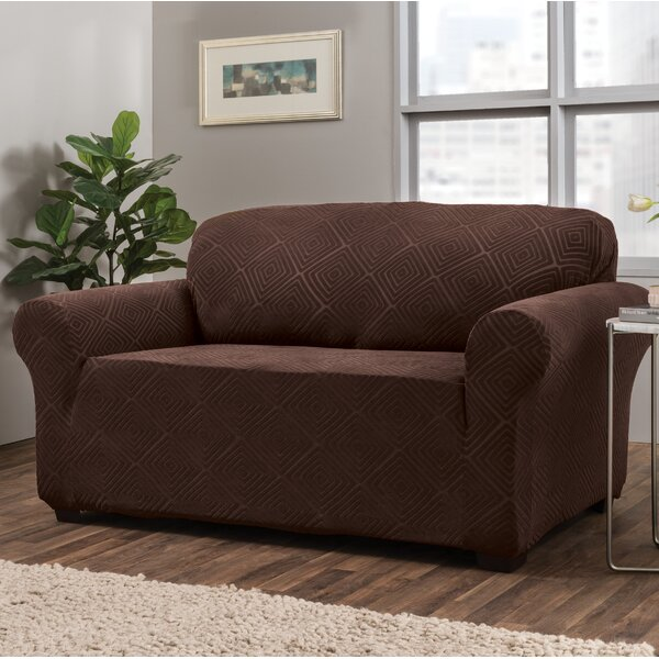 Diamond Box Cushion Loveseat Slipcover by Symple Stuff
