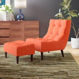 Bouck Lounge Chair and Ottoman Mercury Row