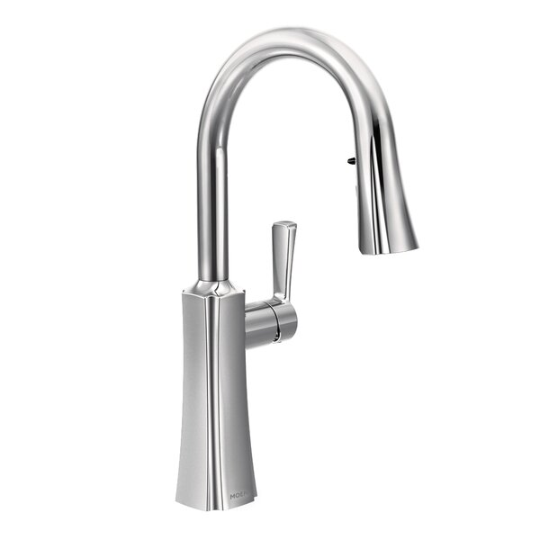 Etch Pull Down Single Handle Kitchen Faucet with Reflex™ and Duralock™ by Moen