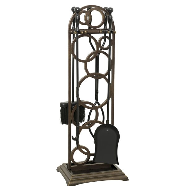 Krutnava 5 Piece Iron Fireplace Tool by Ornamental Designs