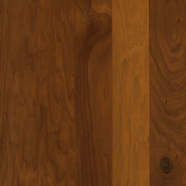Perf Plus 5 Engineered Walnut Hardwood Flooring in Fiery Bronze by Armstrong Flooring