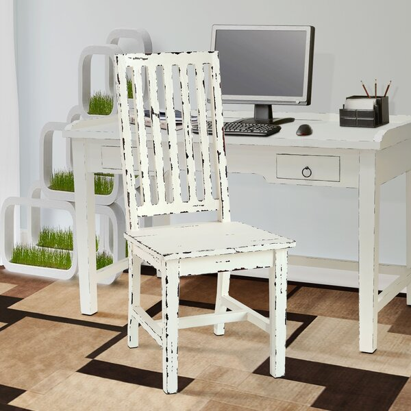 Kissling Solid Wood Slat Back Side Chair (Set of 2) by Ophelia & Co. Ophelia & Co.